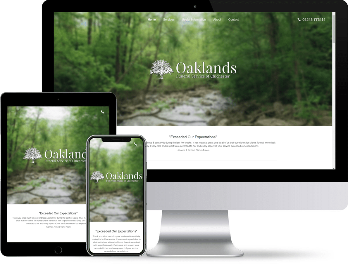 Oaklands Funeral Service's Website